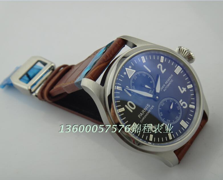47mm PARNIS ST2530 seagull movement big pilot automatic MEN watch Senior watch