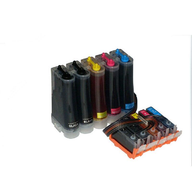CLI 521 IGP 520 CISS Compatible pour Canon MP540 MP550 MP560 MP620 MP630 MP640 MP980 MP990 MX860 MX870 Avec Puce