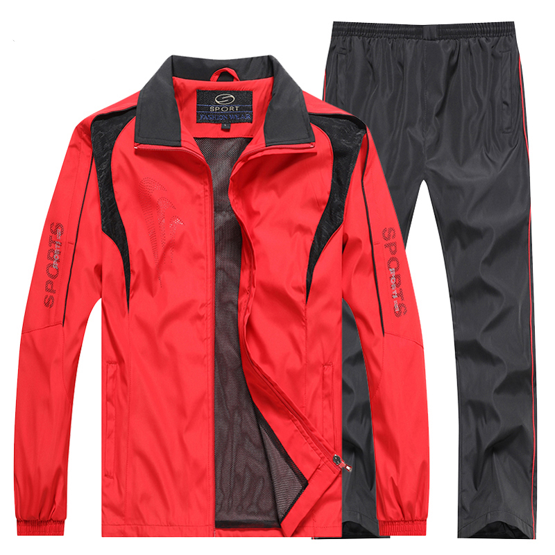 L-5xl Men Tracksuit 2019 Sportswear Sweatshirt+Pants 2pcs Clothing Set Outwear Training Course Track Suit Joggers Sport Suit Men