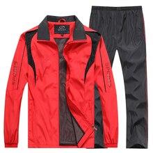 L-5XL Men Tracksuit 2019 sportswear Sweatshirt+Pants 2pcs Clothing Set outwear Training Course Track Suit joggers Sport