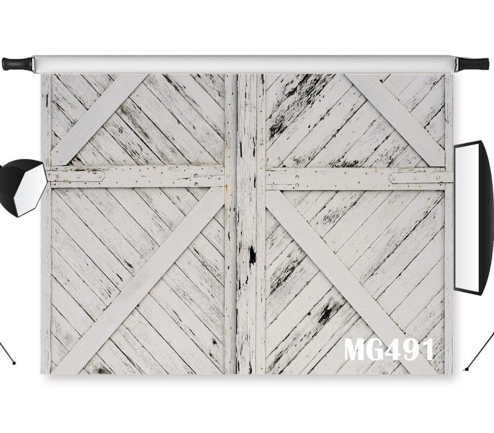 LB 7X5/9X6FT Vinyl Grey Wood Photography Backdrop Props