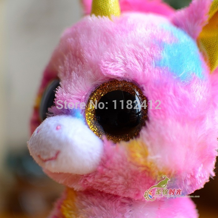 "... Beanie Fantasia Unicorn Plush Animals Toy 6"" 15CM Cute Big Eyes Stuffed  Animals Unicornio Soft ... f941a6f41c93"