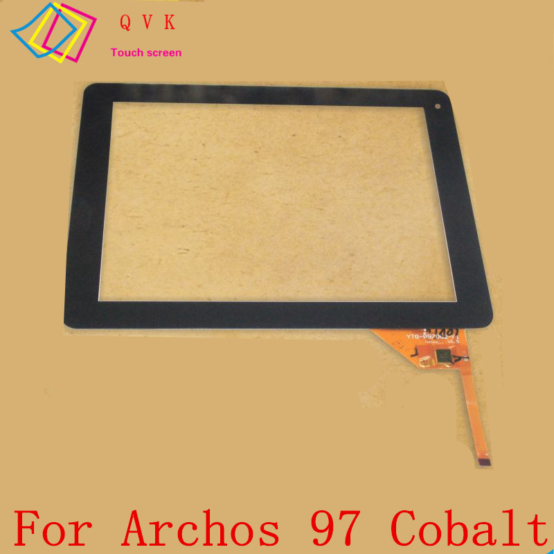 Black 9.7 Inch for Archos 97 Cobalt tablet pc touch screen panel Digitizer Glass sensor replacement 7 inch tablet screen for dp070211 f1 touch screen digitizer sensor glass touch panel replacement parts high quality black
