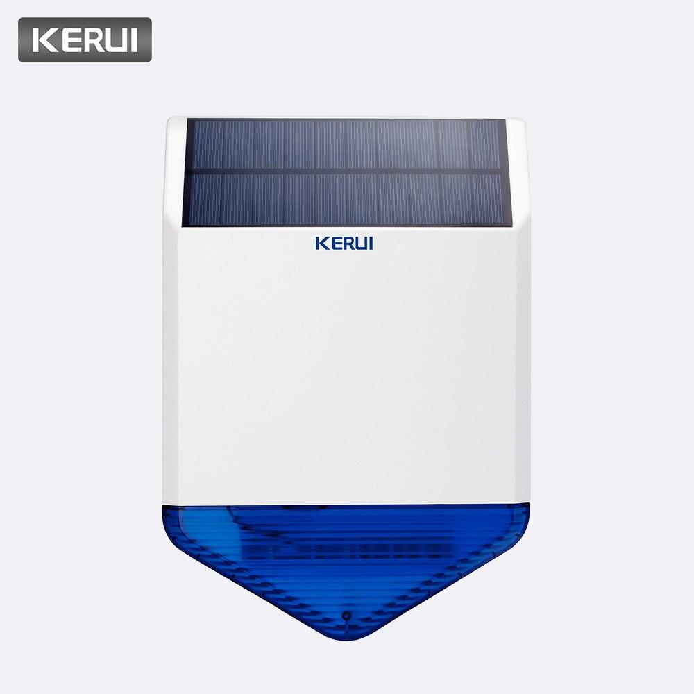 Solar Panel Solar Siren SJ1 for G19 G18 W18 8218G W1 GSM Alarm System Security with