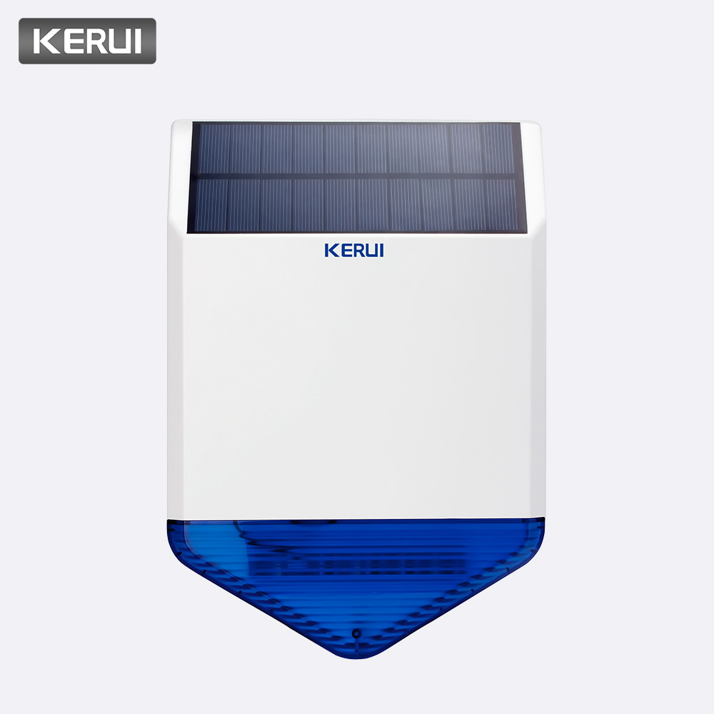 Solar Panel Solar Siren SJ1 for G19 G18 W18 8218G W1 GSM Alarm System Security with Flashing Response Sound Waterproof Outdoor-in Alarm Siren from Security & Protection    1