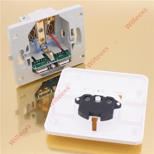 Image 5 - Wilteexs carregador de parede elétrico, porta usb dupla quente 5v 2a, adaptador de tomada da ue, doca de carregamento painel de saída