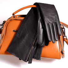 30cm-80cm Women's Ladies Real leather Sheep Skin overlength side Zipper Gloves Party Evening Opera/long gloves
