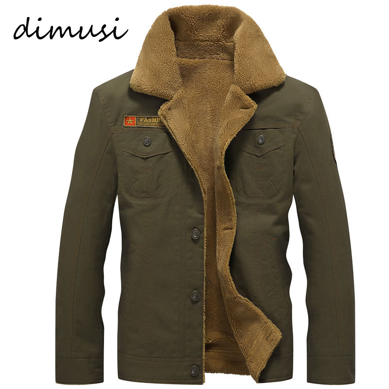 DIMUSI Winter Bomber Jacket Men Air Force Pilot MA1 Jacket Warm Male fur collar Army Jacket tactical Mens Jacket Plus Size PA061