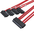 1M Internal SAS 32Pin SFF-8484 to 29Pin SAS SFF-8482 Data Cable with gold finger