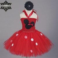 Princess Tutu Cartoon Vestido Minnie Tutu Dress Kids Birthday Christmas Halloween Cosplay Bow Sequined Dresses Girls