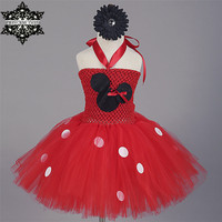 Princess Tutu Cartoon Vestido Minnie Tutu Dress Kids Birthday Christmas Halloween Cosplay Bow Sequined Dresses Girls