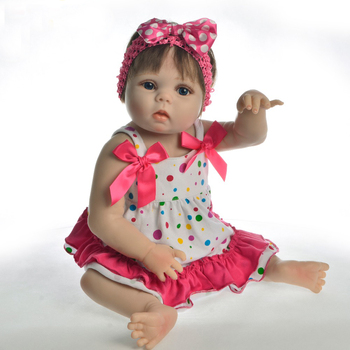 "Reborn baby dolls 23""57cm bebes reborn de silicone real girl doll real alive adorable reborn babies dolls toys for children gift"