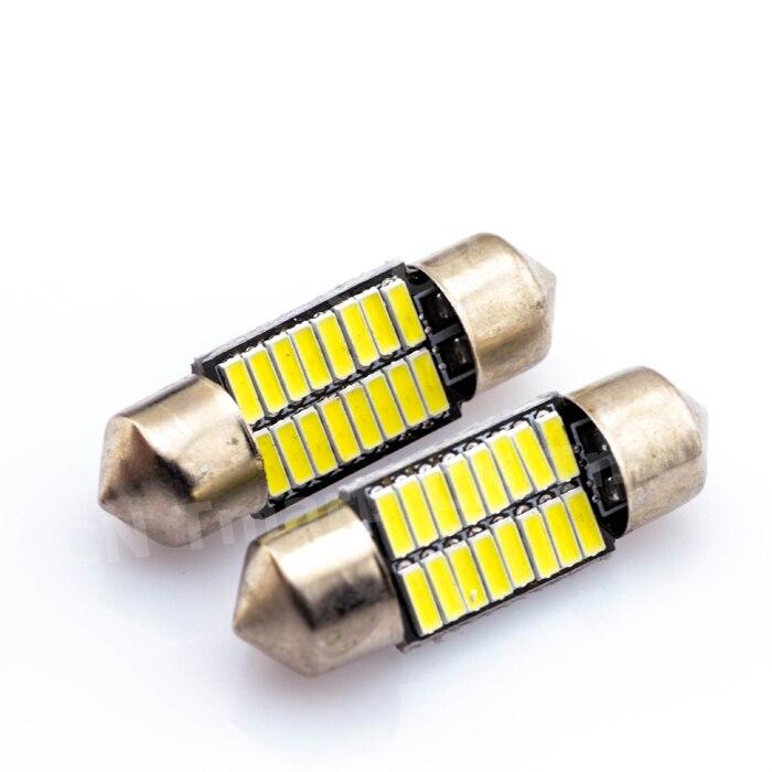 Big sales Wholesale 100x Car led festoon 31MM 36MM 39MM 41MM light c5w 16 SMD led 16smd 4014 Auto led bulbs High Quality
