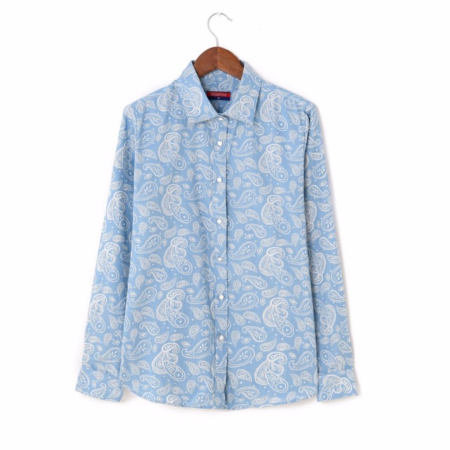 Dioufond Для женщин джинсовая рубашка повседневные рубашки с длинными рукавами отложной воротник блузки осень плюс Размеры Blusa джинсы Feminina Boho блузки