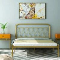 Moder iron art лист человек 1,5 м железная рама кровать двуспальная кровать 1,8 железная кровать принцесса ins ветер стальная рама кровать
