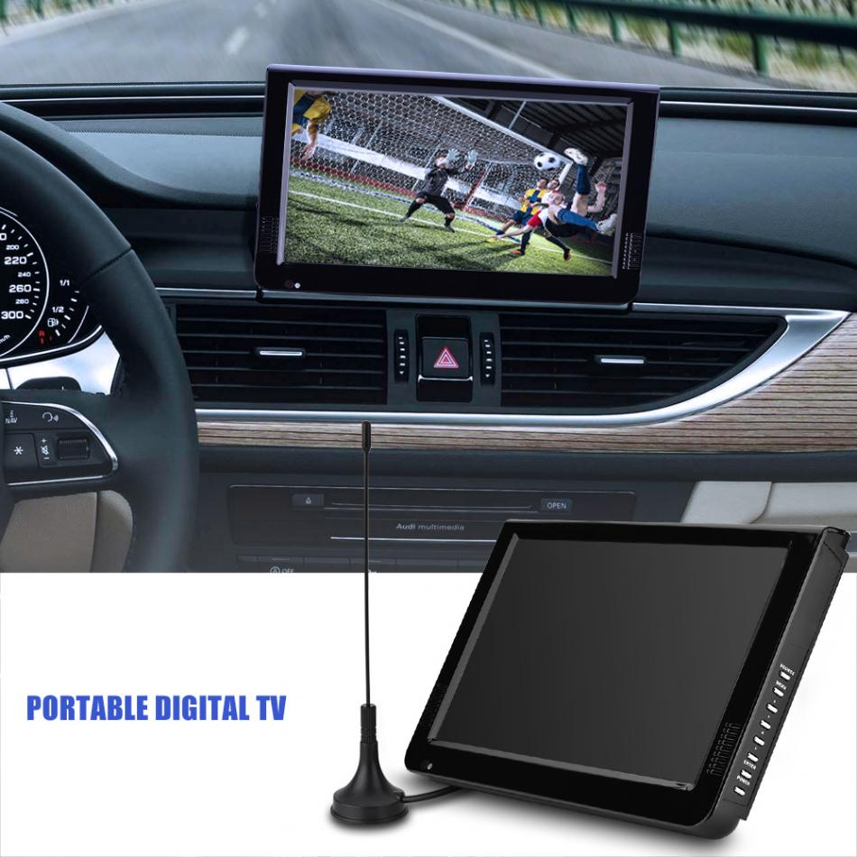 LEADSTAR ISDB-T 10.1″ 16:9 Portable Car TV 1024 x 600 TFT-LED Digital Analog Color Television Player with US or EU Plug Adapter