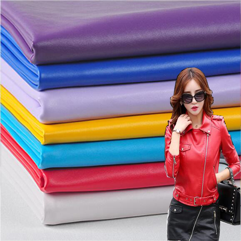 138 * 50cm1pc Faux Leather Fabric For Clothing PU Leather Faux Leather Fabric for Sewing Material DIY Jacket Pants Torby Sofa