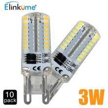 G9 led light bulb AC 220V 3W 64LED Bulb SMD3014 LED Corn Bulb Lamp LED Spotlight for Crystal Lamp Warm Cold White 10PCS/LOT