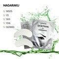 Almohadillas oculares seda nagaraku 50 par/lote, bajo parche en el ojo extensión de la pestaña del ojo almohadillas de corea del sur