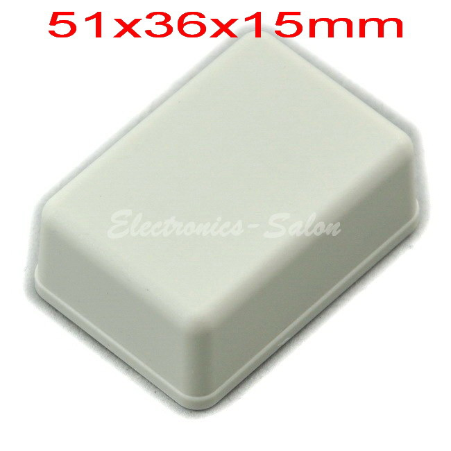 Small Desk-top Plastic Enclosure Box Case,White, 51x36x15mm,  HIGH QUALITY.