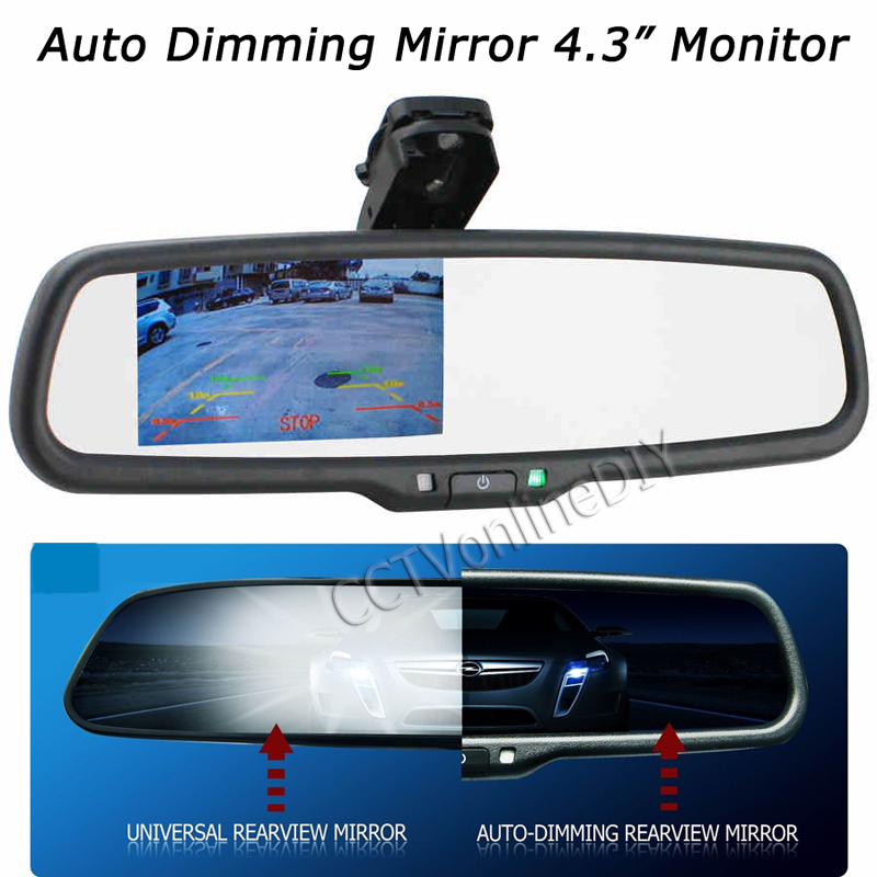 ANSHILONG OEM Auto Dimming Rear View Mirror with 4.3 inch 800*480 Resolution TFT LCD Car Monitor Built in Special Bracket oem auto dimming rear view mirror with 4 3 inch 800 480 resolution tft lcd car monitor built in special bracket