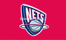Brooklyn Nets Flag 3×5 FT 150X90CM Banner copper grommets Polyester NBA flag 126, free shipping
