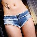2016 Сексуальные Клуб Женщин Джинсовые Шорты Дамы Модные Мини джинсы Шорты Лето с Низкой Талией Вскользь Уменьшают Подходящие Тощие Короткие Feminino