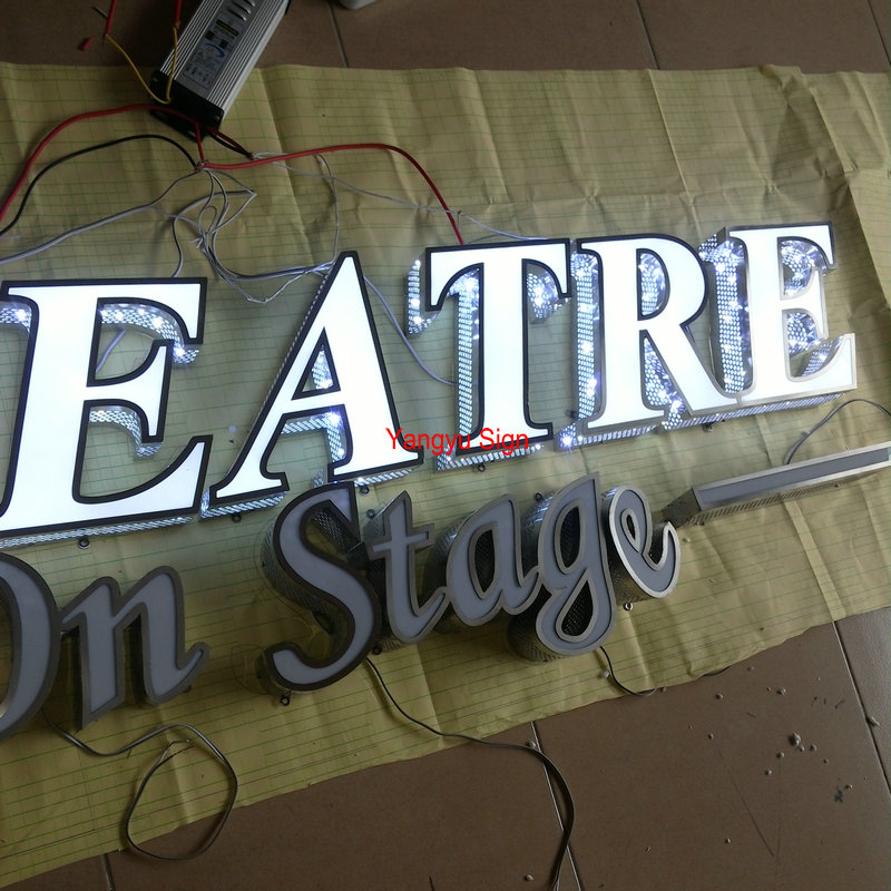 Outdoor Acrylic portable flashing led pizza sign letters