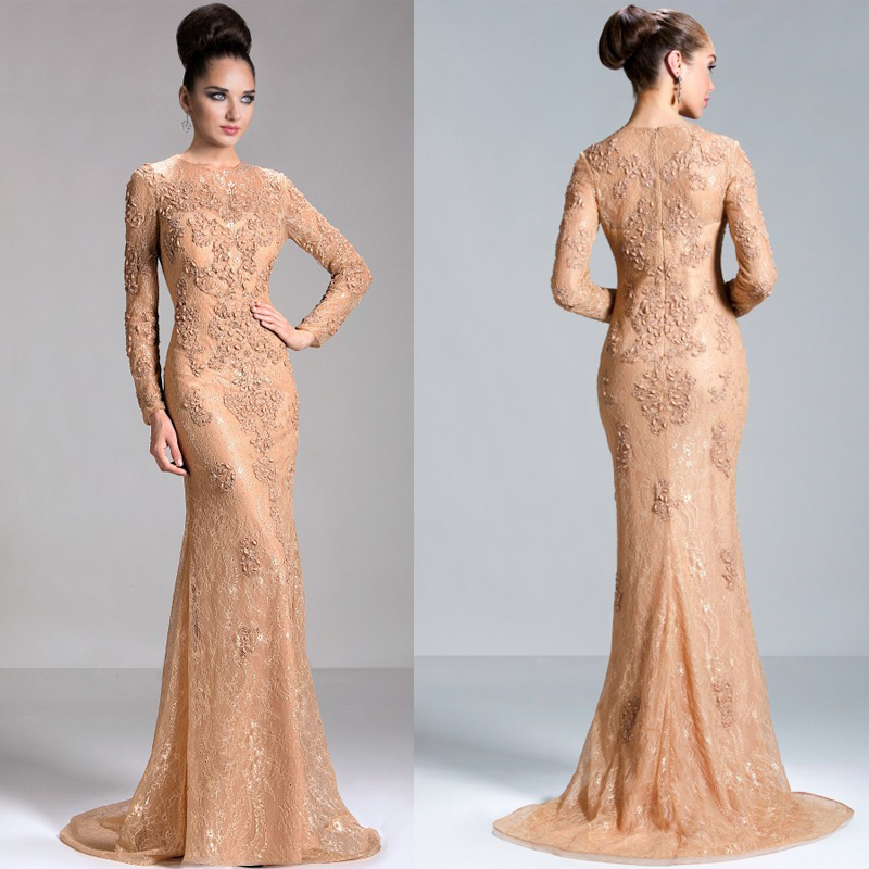 Images of Elegant Evening Gowns With Sleeves - Reikian
