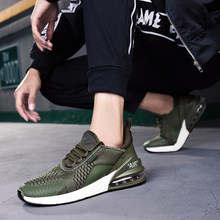 Training Fitness Running Shoes For Men 2018 New Arrival Air Sole Breathable Cushioning Sport Shoes Fly Knit Jogging Sneakers(China)