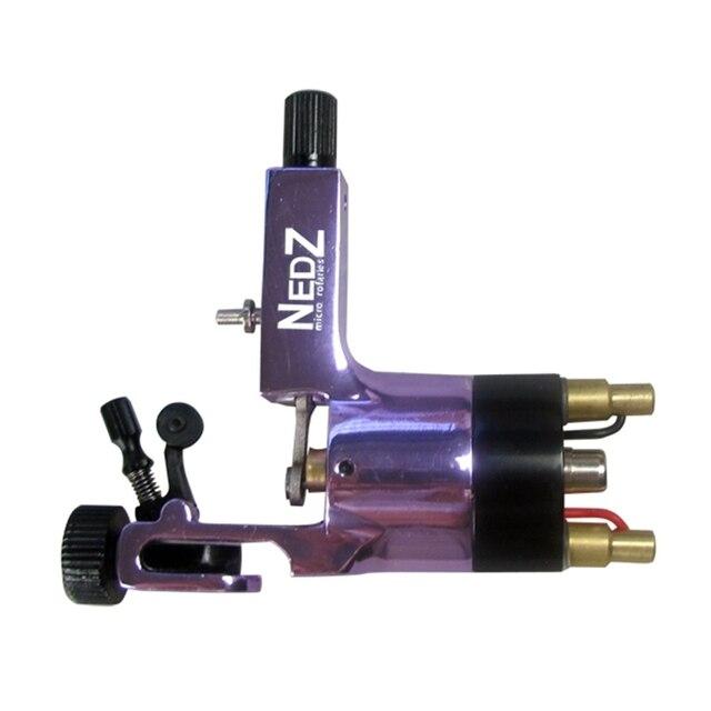 Новейшие NEDZ Ротари Машина Татуировки Комплект Фиолетовый Авиационного Алюминия Татуировки Machine Gun Для Шейдерного Блока И Вкладыша Бесплатная Доставка TM-555F