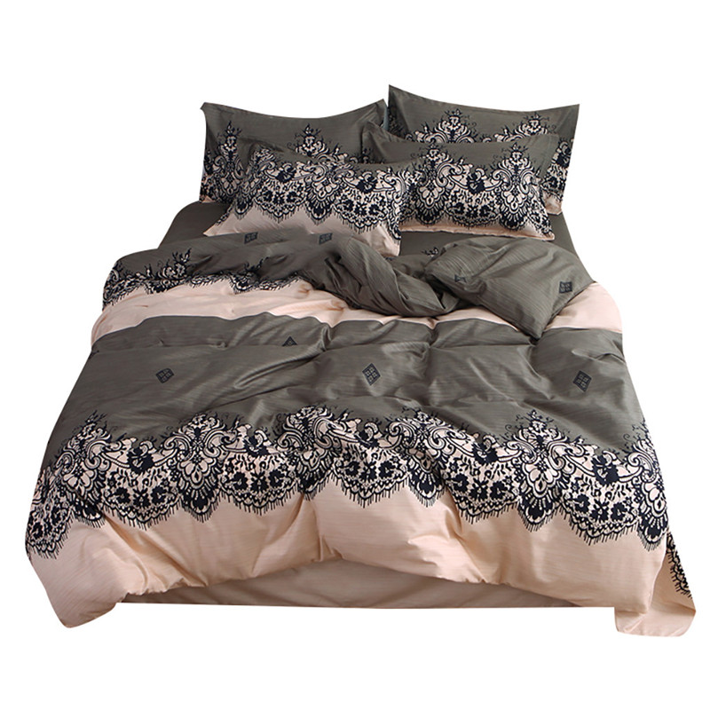 Four Piece Quilt Cover, Exotic Full Size Pillowcase warm wonderful prints with dreaming stars Gently Cycle Only mattress bed pad-in Bedding Sets from Home & Garden