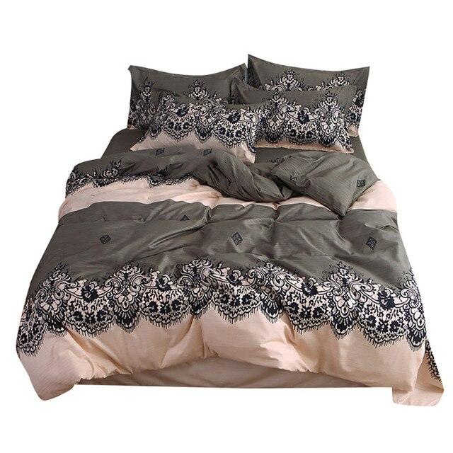 Funda de edredón de cuatro piezas, exótica funda de almohada de tamaño completo cálido estampado maravilloso con estrellas de ensueño ciclo suave sólo colchón de cama
