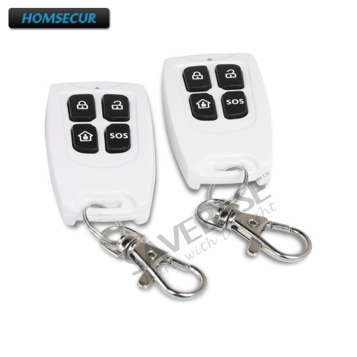 2Pcs HOMSECUR C4-2 Wireless Remote Control For Our 433Mhz GSM Alarm System