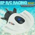De alta Velocidad de Barco Submarino de Control Remoto 5CH Modelo de Lancha Rápida de Alta Potencia 3.7 V Modelo de Barco De Juguete De Plástico de Juguete Al Aire Libre