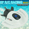 High Speed Boat Remote Control Submarine 5CH Speedboat Model High Powered 3.7V Toy Boat Plastic Model Outdoor Toy