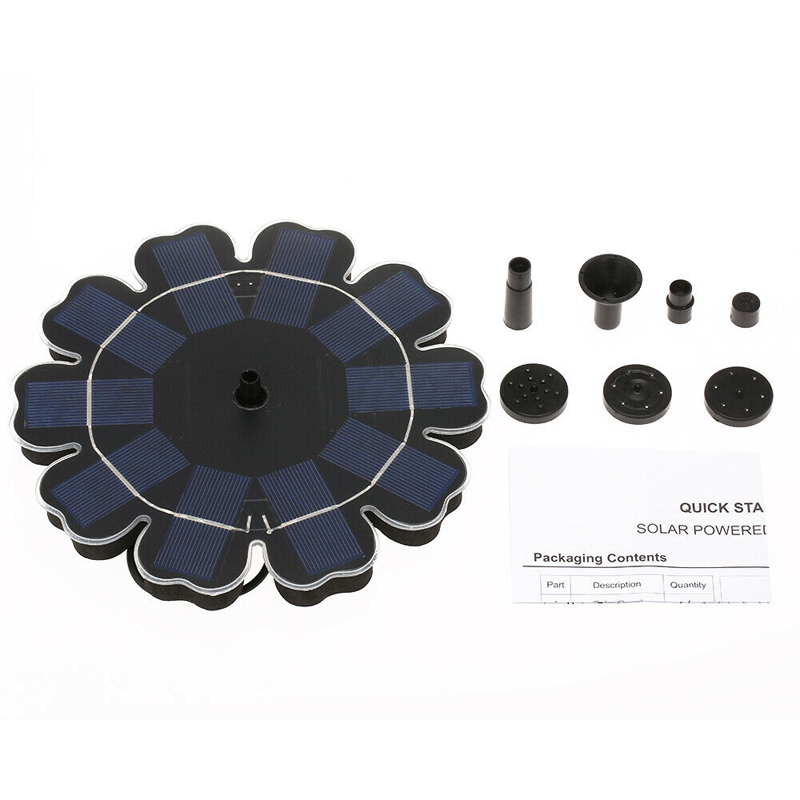 Image 5 - Solar Water Pump Floating Panel Pool Sun Flower Shaped Solar Power Fountain Garden Landscape Garden Pond Watering Kit 8V 2.5W-in Fountains & Bird Baths from Home & Garden