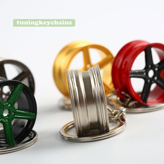 Car Auto Wheel Rim Mini Keychain