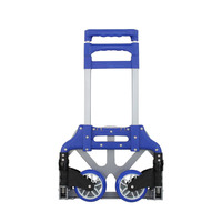 Light Folding Carts Aluminum Alloy Handle Carts Folding Portable Hand Trolley Luggage Trailer Supermarket Shopping Trolley