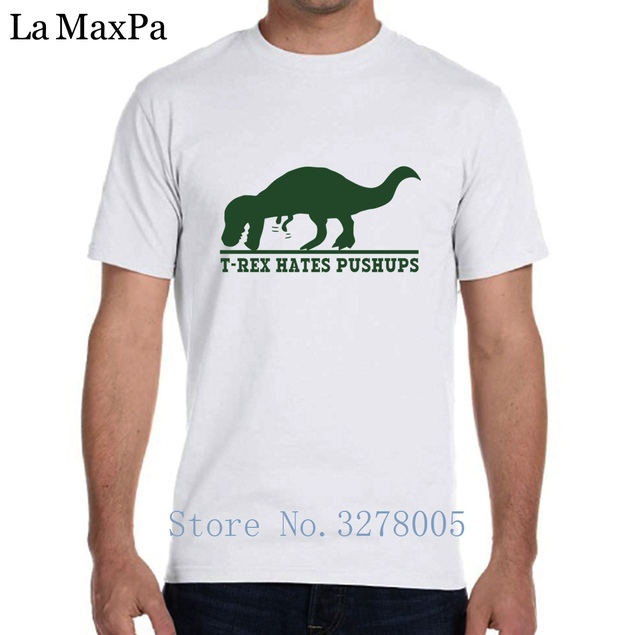 5f392f80 Tshirt Man Streetwear Fashion T Rex Hates Pushups T-Shirt For Men Trend  Short Sleeve Camisas Hombre 2018 Round Neck Hiphop Top