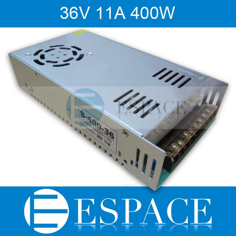 Best quality  36V 11A 400W Switching Power Supply Driver for CCTV camera  LED Strip AC 100-240V Input to DC 36V free shipping ac dc 36v ups power supply 36v 350w switch power supply transformer led driver for led strip light cctv camera webcam