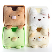 JP Cartoon Sumikkogurashi Storage Box Stuffed Animals Plush Toys Dolls 11cm*11cm*11cm