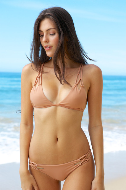 852247791e97d Bikini Swimming wear Women's Two Pieces Brazilian Bikini Swimsuit Swimwear  Bathing Suits Pink Cut Out Swimsuit