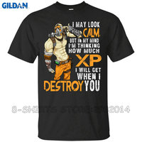 Gildan Adult Slim Fit T Shirt I MAY LOOK CALM BUT IN MY MIND I M