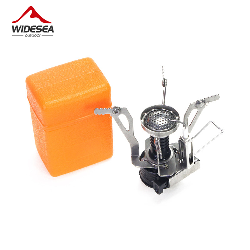 Portable Folding Outdoor Stove Cookware Gas Burner Camping Stove For Hiking Picnic BBQ Gas Stove Tank Cooker Furnace End