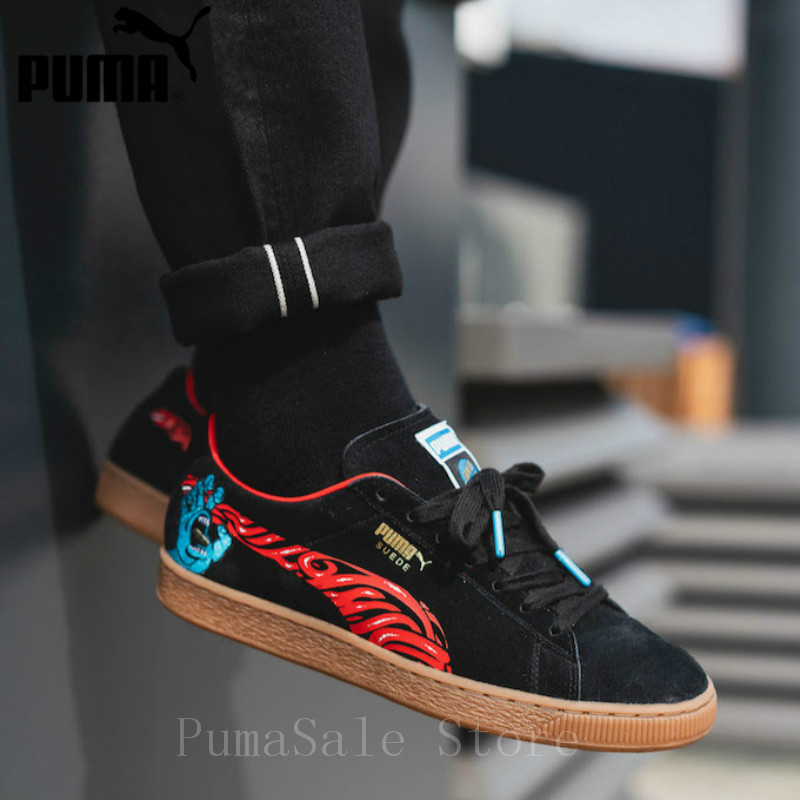 d7d21d6d439 PUMA X SANTA CRUZ SUEDE Men And Women Shoes Black 366321 01 Retro Shoes  Classic Sneaker SUEDE 50 Low Top Shoes EUR35.5 44-in Badminton Shoes from  Sports ...