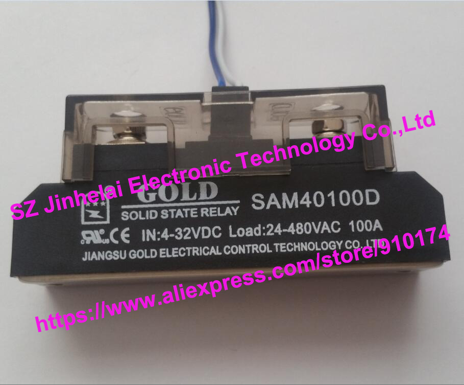 New and original SAM40100D GOLD Single-phase industrial solid state relay SSR 4-32VDC, 24-480V 100A new and original sa366150d sa3 66150d gold 3 phase solid state relay ssr 4 32vdc 40 660vac 150a