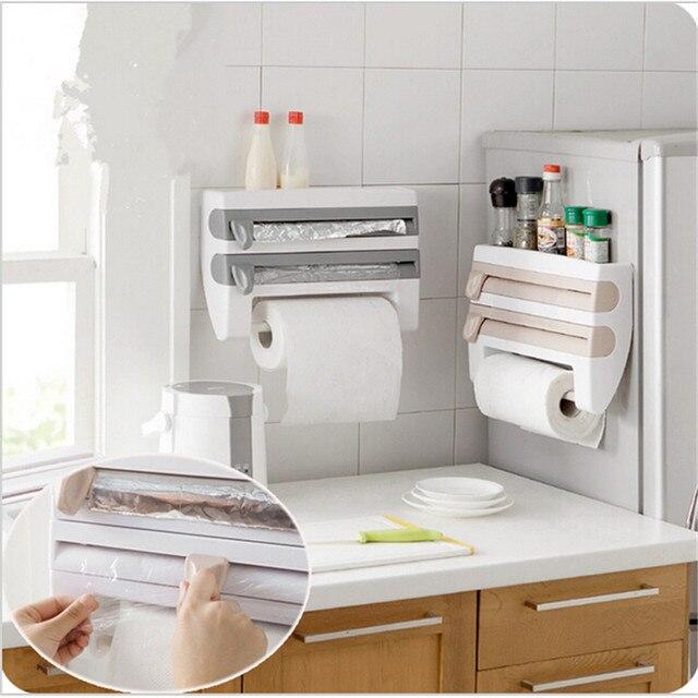 Neue Ankunft küche frischhaltefolie Lagerregal mit hobel cutter  aluminiumfolie toilettenpapierhalter wandregal küche zubehör in Neue  Ankunft küche ...