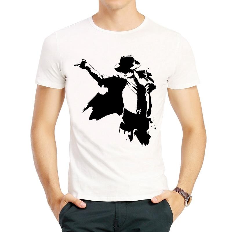 Michael Jackson T Shirt Fashion Mens White Color Short Sleeve Michael Jackson T shirt Top Tees tshirt Casual MJ T-shirt