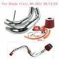 """Kit Del Coche de Competición de Admisión de aire para Honda Civic 2006-2011 DX/LX/EX de Admisión de Aire Frío con 3 """"Filtro de aire (2.5"""" OEM antideslizante en el conector"""